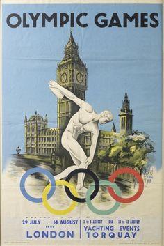Vintage 1948 London Olympics Yachting Evens Torquay Event Advertisement Digital Print Poster  #finalfantasyXV #teammystic #Gameofthrones #bigbangtheory #squareenix #blackmage #starwars #funny #HarleyQuinn #Womensclothing