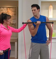 Marie Osmond and Adam Gregory at QVC with the BodyGym