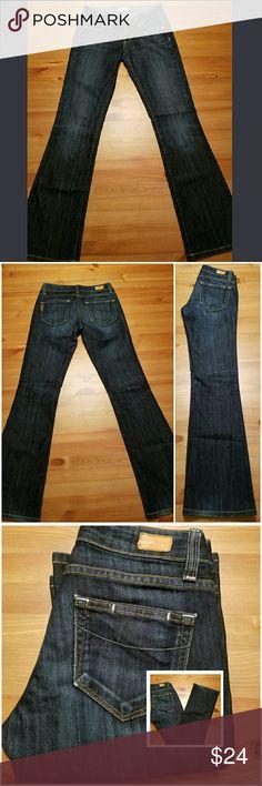 "Paige Jeans Laurel Canyon Low Rise Boot Cut SZ 24 Perfect pair of Paige Premium Denim Laurel Canyon low rise bootcut jeans in a deep indigo dark rinse. Size 24 in perfect condition. 36"" length, 29"" inseam, 13"" across waist, 7"" rise. 60% cotton/40% polyester. Paige Jeans Jeans Boot Cut"