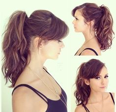 Nina Dobrev's hair for the TCA's- I'm thinking of cutting some bangs like this
