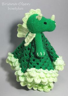 Dragon Lovey by Bowtykes | Crocheting Pattern