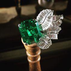 Fabulous emerald Ring @vancleefarpels new collection !! Via @kelsey.becker…