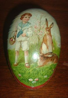Large German Egg Candy Container