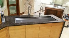 Sublime Custom Stone sells and installs Granite Countertops, Quartz Products, Marble, Limestone and many other fine materials throughout the San Antonio area. Custom Countertops, Countertops, Small Kitchen Island, Kitchen Cabinets, Small Kitchen, Granite Countertops, Custom Kitchens, Galley Sink, Sink
