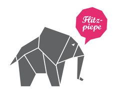 Bügelbild Elefant Origami von SupaRina auf DaWanda.com
