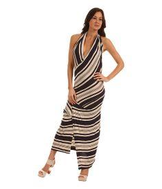 Vivienne Westwood Anglomania Protea Dress Ecru/Navy