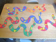 Share and Remember: Snake Patterns Math Patterns, Snake Patterns, Teaching Patterns, Teaching Ideas, Snake Crafts, Zoo Phonics, Pond Life, Toddler Crafts, Kids Crafts