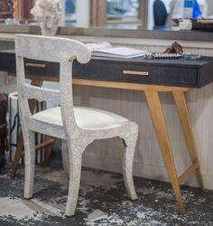 Mecox Houston desk design #navy #natural #painted #antique #inteirordesign #home #decor