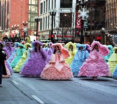 Azalea Trail Maids.  Back in the day. My thigh would not go through the waist part of my dress. I'm not exaggerating. Fun times