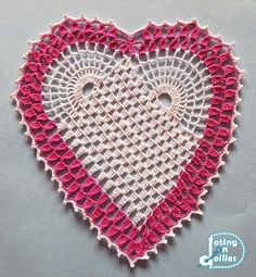 Doting on Doilies: Crocheted Heart