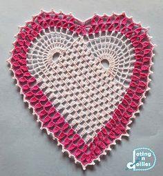 Doting on Doilies: Crocheted Heart