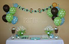 beautiful boy baby shower centerpieces   Partylicious: {Partylicious} and Safari Baby Shower