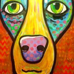 #dog art by Debbie Crawford
