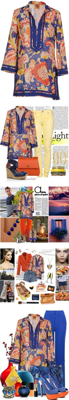 """Fun with Friends 91: Tory Burch Kaftan"" by lashandanista ❤ liked on Polyvore"