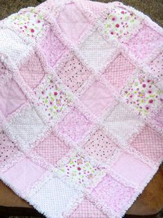 Soft and Cuddly  Baby Rag Quilt by AllAboutTheDetail on Etsy, $75.00