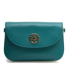 Look what I found on #zulily! Goldenrod Robinson Leather Crossbody Bag #zulilyfinds