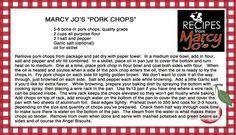 Marcy Jo's Pork Chops