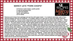 Best Pork Chops EVER!!!