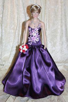 PuRpLe BeLLe~dress~PRINCESS DIANA~doll~FRANKLIN MINT