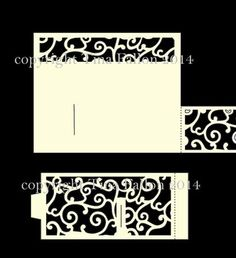 Bendy Card Template FILIGREE on Craftsuprint designed by Tina Fallon - Bendy Card Template Simply pop the tabs of the sides into the slits provided to created a double curved/bowed shape card to the front.  - Now available for download!