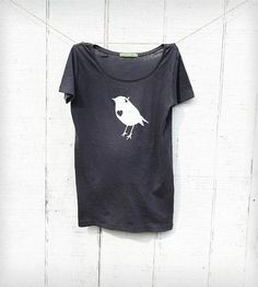 Womens Bird with Heart Tee