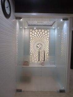 Here you will find photos of interior design ideas. Get inspired! Living Room Partition Design, Room Partition Designs, Bedroom False Ceiling Design, Bedroom Bed Design, Etched Glass Door, Temple Design For Home, Pooja Room Door Design, Pooja Rooms, Home Interior Design