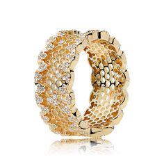 Honeycomb Lace Ring, PANDORA Shine? & Clear CZ | @giftryapp