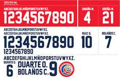 Costa Rica 2014 World Cup Kit features an unique collar created by the Italian kit manufacturer Lotto Sports. Football Fonts, World Cup Kits, Costa Rica, Google
