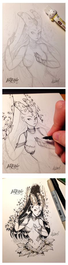 InkTober 2016 by Redisoj on Behance