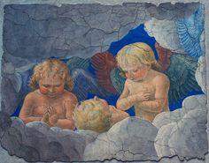 Vatikanische Museen, Pinakothek, Gruppe von Putten, Fresko von Melozzo da Forli (group of putti, fresco by Melozzo da Forli) #TuscanyAgriturismoGiratola