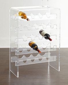 Allegra Acrylic Wine Rack at Neiman Marcus.