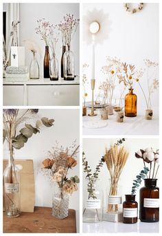 Pampas herbs, papal cash or cotton flowers, the dried flowers are removed from outdated. Their little classic aspect will deliver an offbeat fashion and a long-lasting deco in your inside. Pinturas Art Deco, Interiores Art Deco, Deco Floral, Vintage Flowers, Dried Flowers, Interior Inspiration, Flower Arrangements, Sweet Home, Room Decor