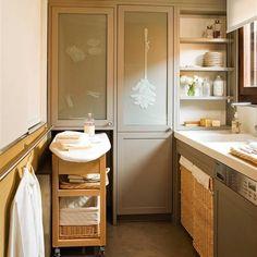 Ideas para organizar un lavadero Ideas Geniales, Ideas Para, Laundry, Vanity, Bathroom, Storage, Furniture, Beige, Home Decor