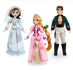 "collectibleseuphoria:  ""Rapunzel Classic Doll, Rapunzel and Cassandra Doll Set, and Mini Doll Set from Tangled: The Series  """