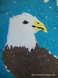Torn Paper Eagle.  Wonder if this would work for our US symbols unit too?