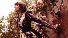 Celebrity Jessica Biel  Brunette Rose Flower Dress Actress Mood Style Fashion Sensual Wallpaper