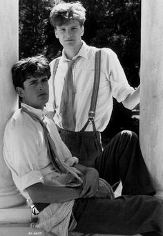 Impossibly young: Colin Firth and Rupert Everett in the film Another Country boys,Handsome Men,Movies,People, Colin Firth, Freddie Mercury, Mode Masculine, Rupert Everett, Style Anglais, Cinema, Mr Darcy, British Boys, British Style