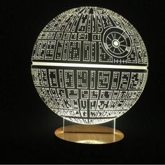 Star Wars Death Star Hologram 3D Light Table Desk LED Lamp Engraving Night Light Home Decor - GeeksMoviesStuff - 4