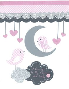 Baby Girl Nursery Gray and Pink Nursery Baby by PeanutAndButtons, $17.00