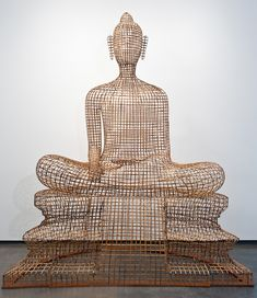 bamboo and rattan sculptures by sopheap pich at the met museum, new york