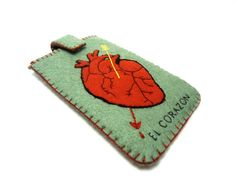 el corazón loteria mexicana ipod iphone case by romualda on Etsy, $23.50