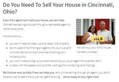 Do You Need To Sell Your House in Cincinnati, Ohio? We'll know very quickly if we can help you, and unlike selling through an agent, you don't have to wait to see if the buyer can get financing… we're ready to buy right now! Sell My House Fast, Selling Your House, We Buy Houses, Do You Need, Cincinnati, Home Buying, Ohio, Real Estate, Canning