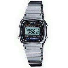 daa9e18fdbb4 Casio Plateadito LA670WA-2  450. • Resistente al agua • Popular diseño  retro •