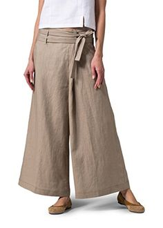 Light, lovely and simple, Vivid Linen clothes are sure to delight your feminine side. Miss Me Outfits, Cool Outfits, Casual Outfits, Summer Outfits, Casual Pants, Mode Pop, Wide Leg Linen Pants, Wide Trousers, Plus Clothing