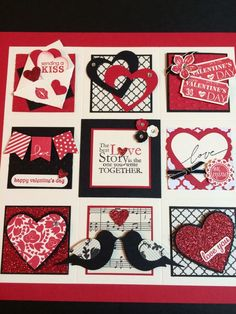 Stampin' Up Valentine Sampler – made this during a class last week.… – Teresa OBrien Stampin' Up Valentine Sampler – made this during a class last week.… Stampin' Up Valentine Sampler – made this during a class last week. Valentine Crafts, Valentine Day Cards, Valentines, Valentine Picture, Mini Albums, Shadow Box Art, Candy Cards, Scrapbook Cards, Scrapbooking