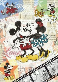 Disney Mickey Mouse and Minnie Mouse Disney Mickey Mouse, Walt Disney, Mickey Mouse E Amigos, Mickey Mouse Cartoon, Mickey Mouse And Friends, Disney Love, Disney Art, Disney Wallpaper, Iphone Wallpaper