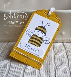 Get your Stampin' Up stash for less! - SU - Baby Bumblebee tag