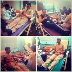 #throwback #BurJumanArjaan our colleagues donating blood at the blood donation center organized by Dubai Health Authority, Prime medical center and LifePlus insurance at #BurJuman