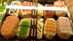 More reasons to go to Thailand: Mister Donuts Thailand, SUSHI DONUTS.
