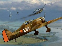 Fokker XXI -The 234 shot down a German Bf 109 fighter and damaged another one.get a call back from Patrol at 6:15 prematurely . The 234 was then set on fire during German bombardment at De Kooy airfield .